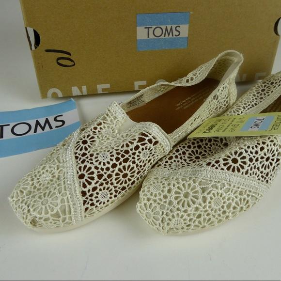 bd02db35b79 Toms Classic Natural Moroccan Crochet Slip On Shoe
